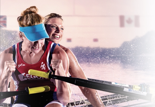 World Championship rowing narrowcasting frame