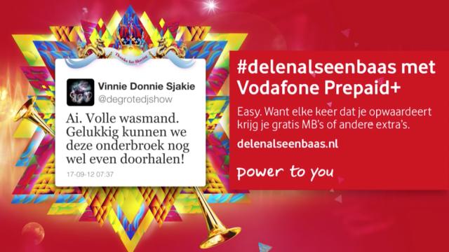 Vodafone #delenalseenbaas campaign