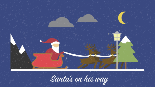 Hold on! Santa is on his way!